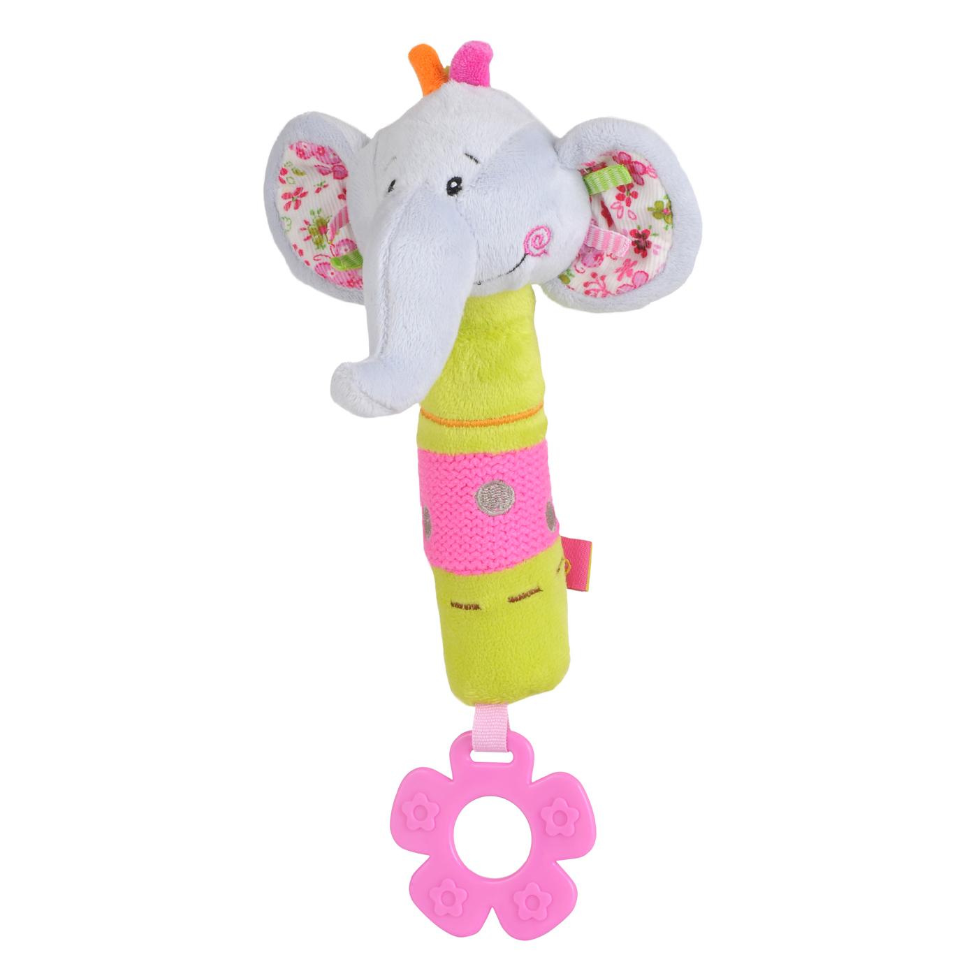 1193 BabyOno igračka skvičavac sa grickalicom slonić