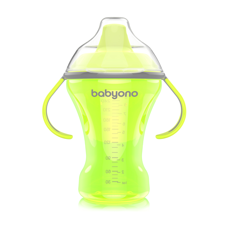 1457 BabyOno bočica Natural Nursing koja se ne prolijeva s tvrdom dudom 260 zelena A