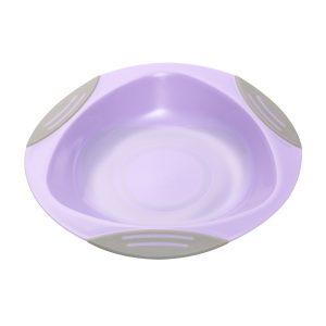 1062 BabyOno plastični tanjus s prianjajućom podlogom ljubičasti
